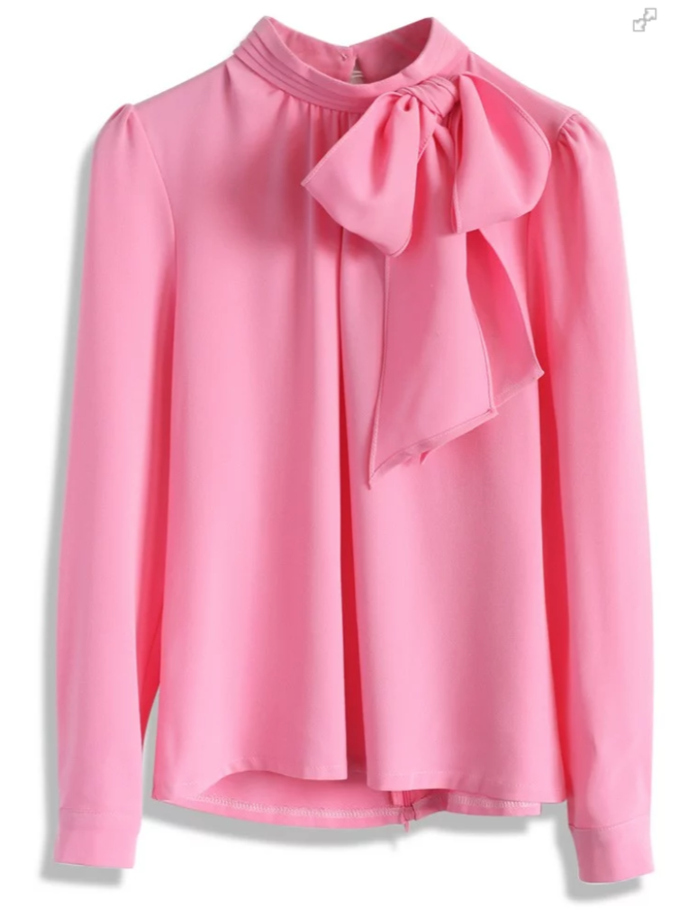 Kiss Me Bow Top in Candy Pink - $39