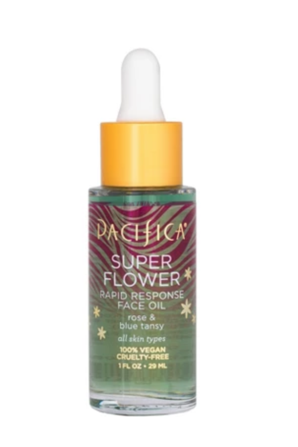 Super Flower Rapid Response Oil - $15.99 Pacifica BeautyI was hesitant at first to use an oil, being someone who is prone to break outs, but I honestly don't know what I was doing before Pacifica's Super Flower Oil. Not only does it smell delicious, my skin just soaks it up and has become so much softer and brighter.