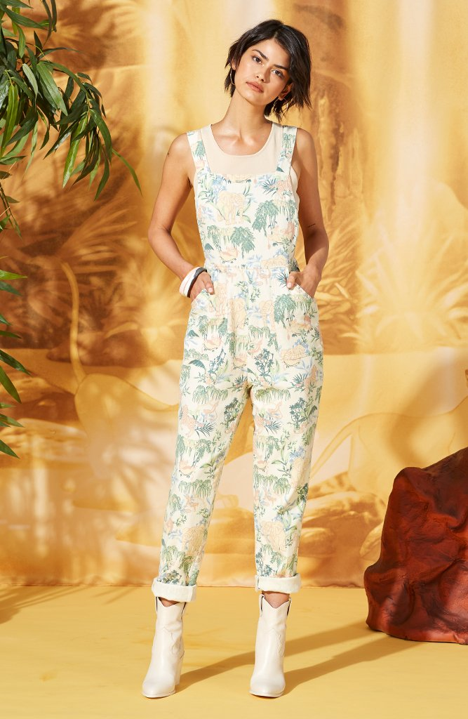 In The Jungle Apron Jumpsuit - The Lion King x MINKPINK - $139.95