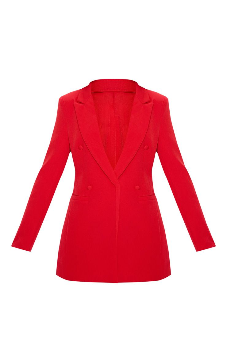 RED DOUBLE BREASTED BLAZER - $80 | Pretty Little Thing