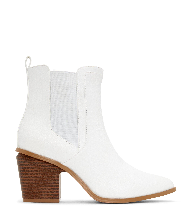 KALISTA Mid Heel Boots - White - $150 | Matt & Nat