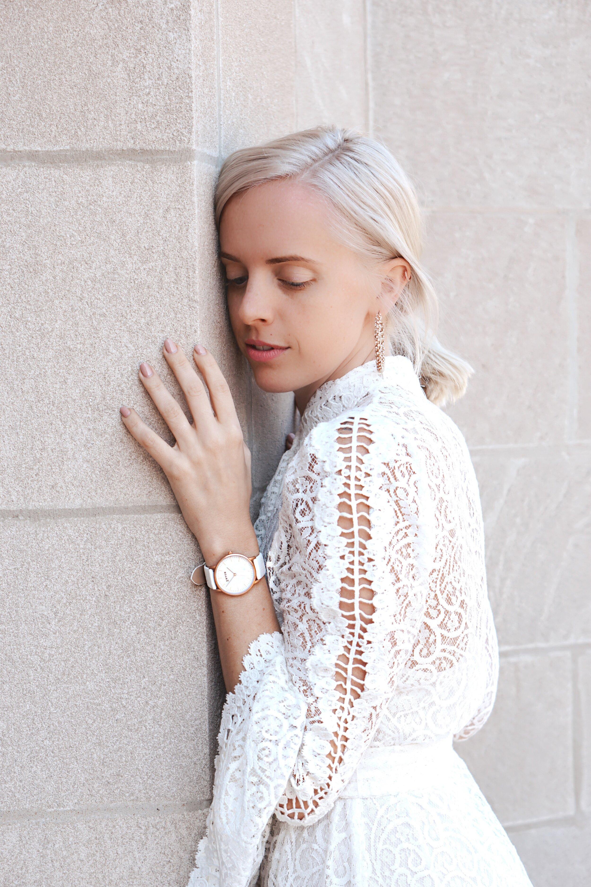 Vegan Watch, Rose Gold Watch, Cruelty-Free Fashion, Sararose Krenger, Chicagos Best Blogger, Fashion Stylist, Chicago Style