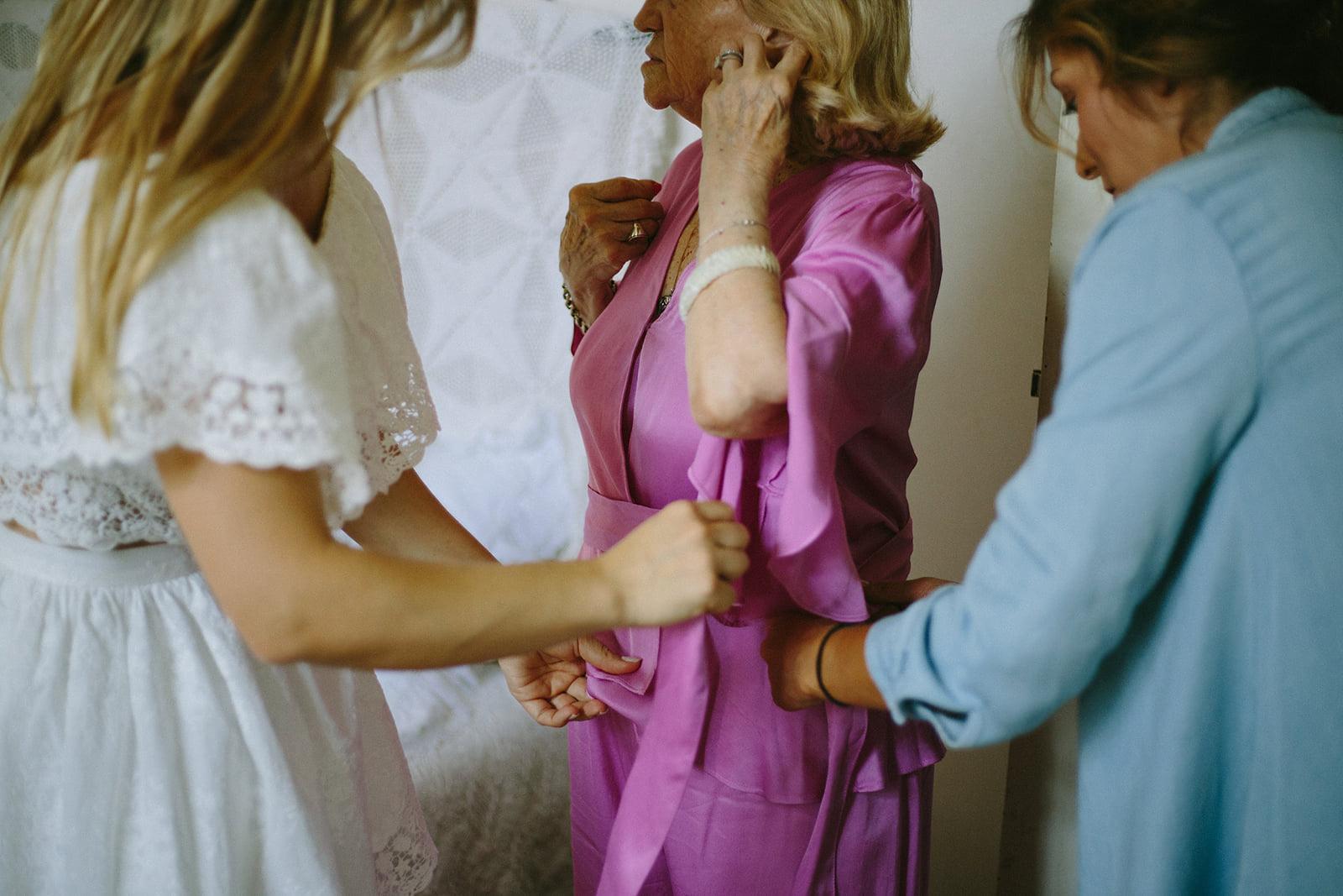 Noiva na preparação