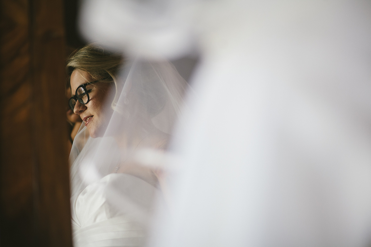 Retrato da noiva no espelho