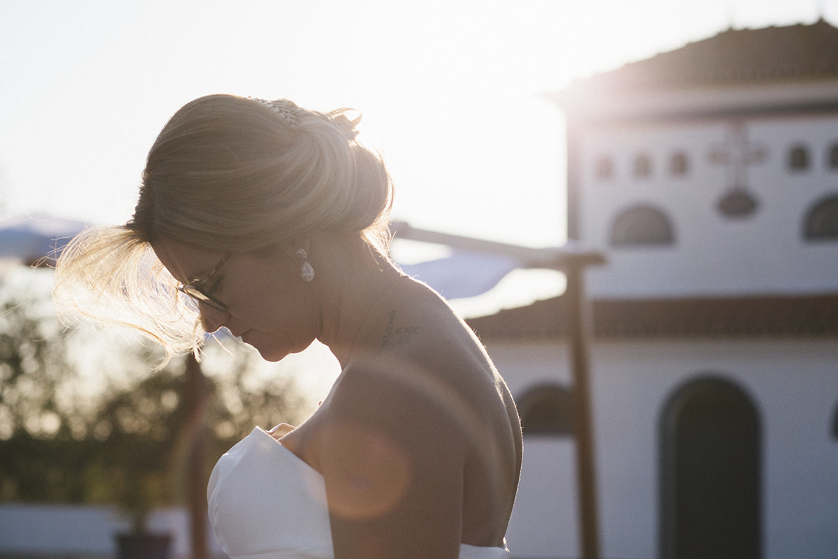 Bride's portrait in Alentejo light