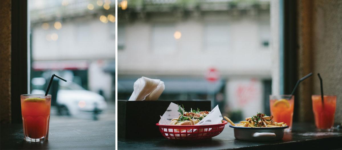 Couple's lunch at Frankie Hotdog Porto