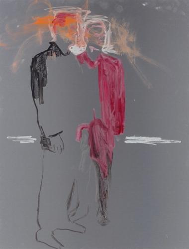 Reena Spaulings,  Advisors (detail of 14 paintings) , 2016.