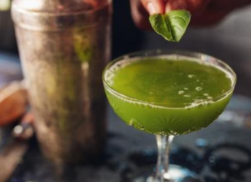 Watercress & Basil Gin Smash