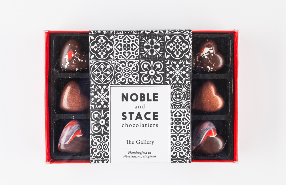 3. Noble and Stace Valentines Chocolates available in a box of 6 or 12, for £10 or £20 available to purchase from    www.nobleandstace.co.uk