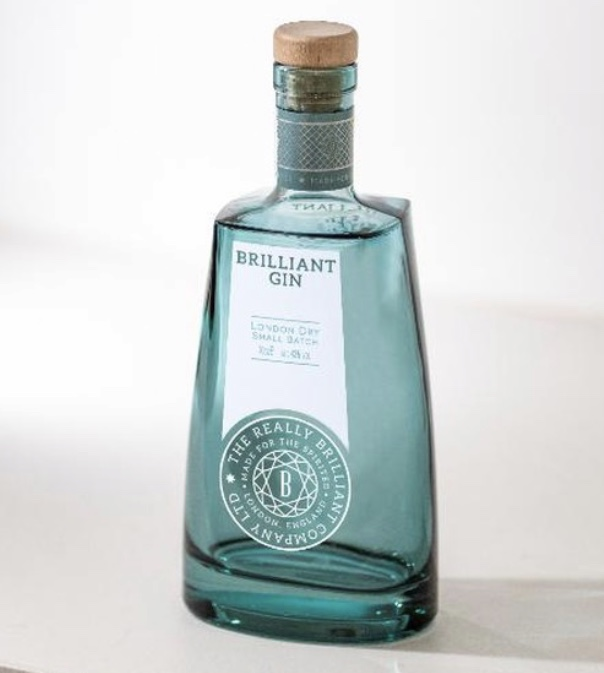 1. Brilliant Gin (London Dry - Small Batch) 70cl £39.00 available to purchase    www.brilliantgin.co.uk