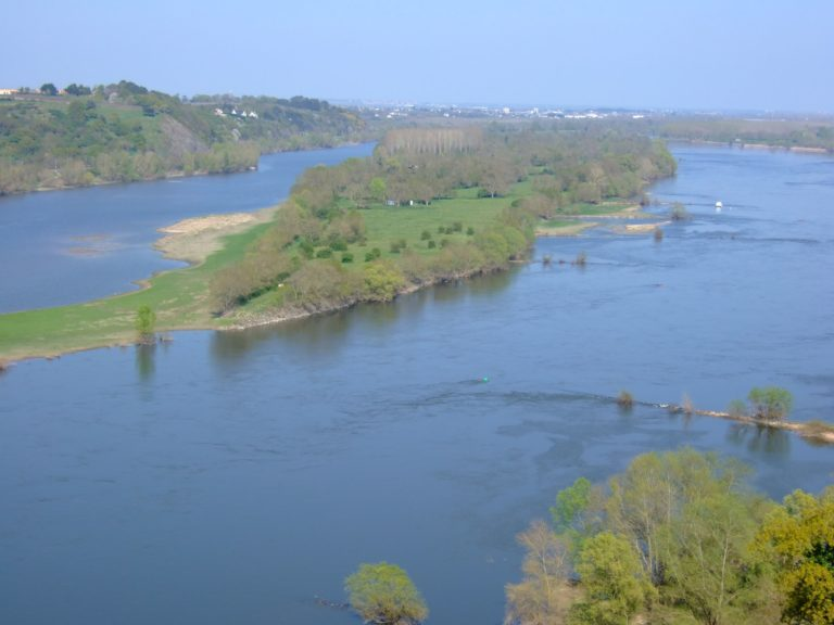 The Loire Valley wine region in France runs along the Loire River. Photo from    Touriste at Wikipedia   .