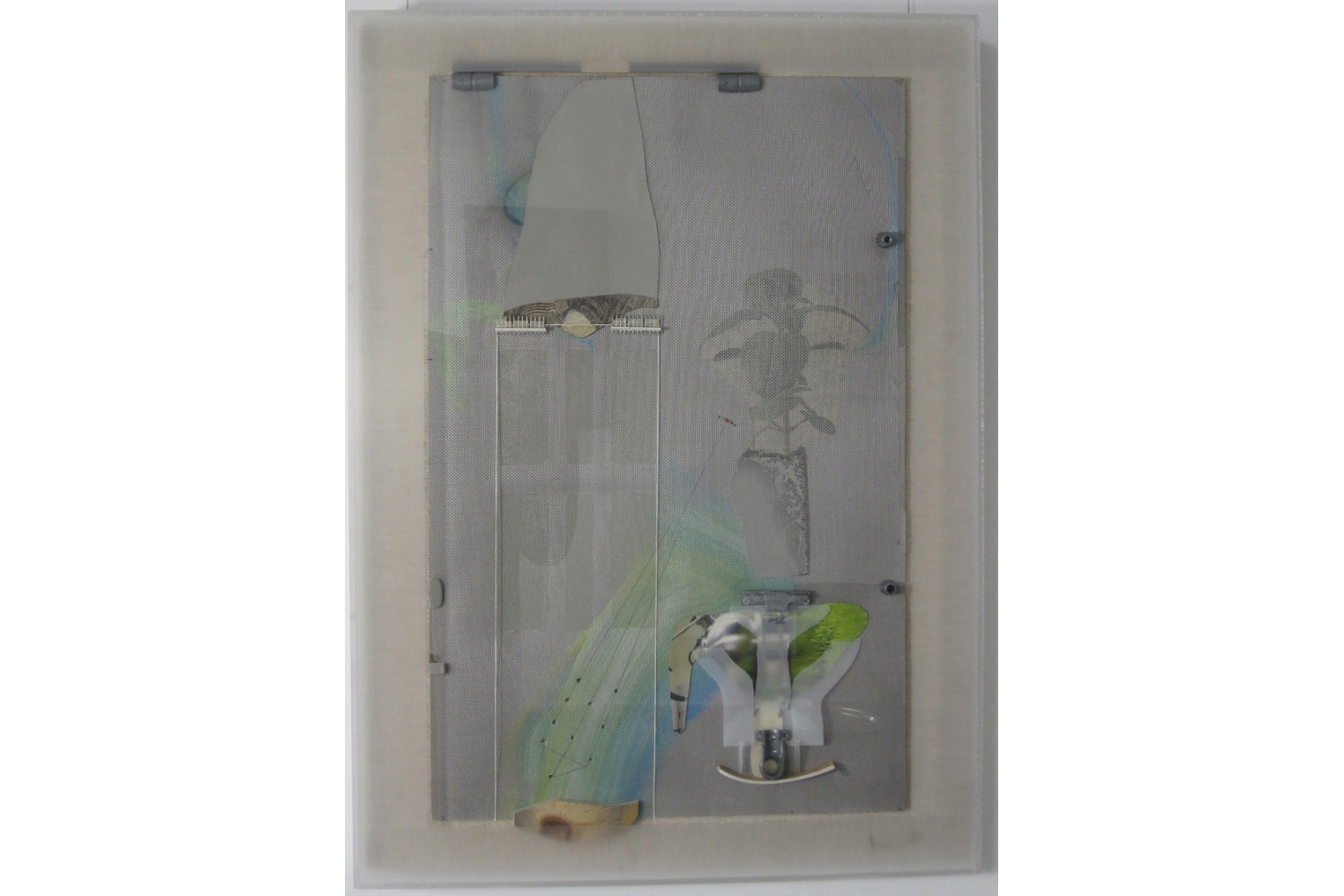 Choong-Sup Lim  Grafting, 2008 Rice Paper, Canvas, Wood, Acrylic and Cage 86 x 61 cm (33.85 x 24 inches)