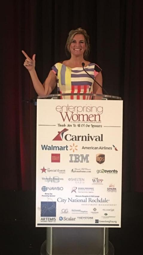 Kimberly Baeth at the Enterprising Woman of the Year Awards