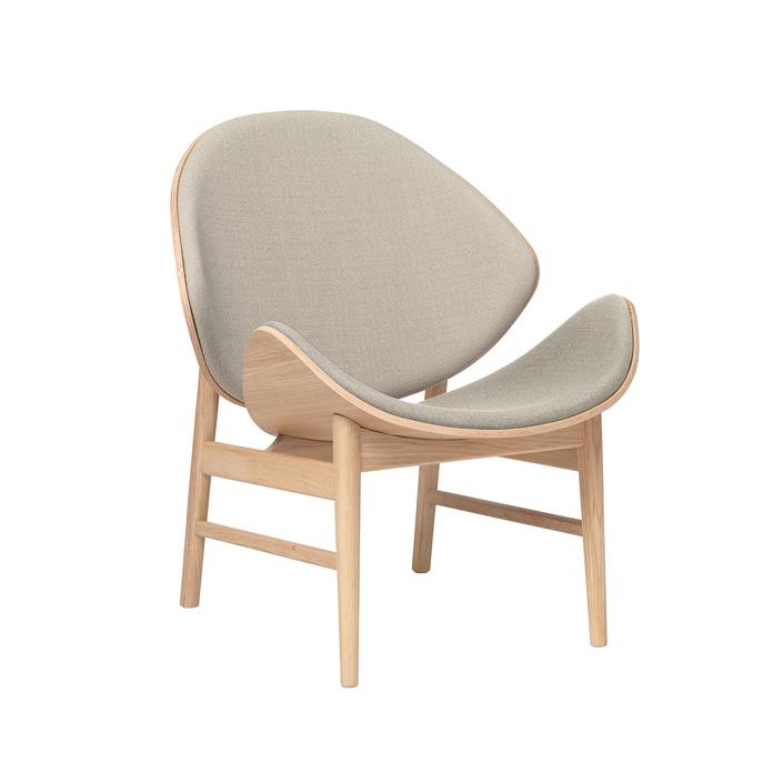 The Orange - White Oiled Oak/Back & Seat Upholstery