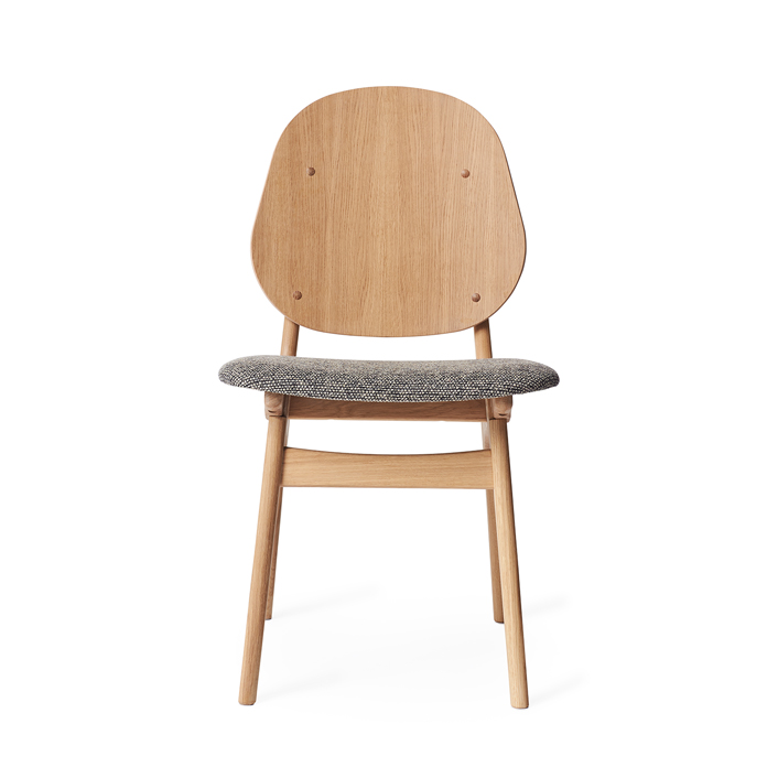 Noble Chair - White Oiled Oak/Fabric Seat