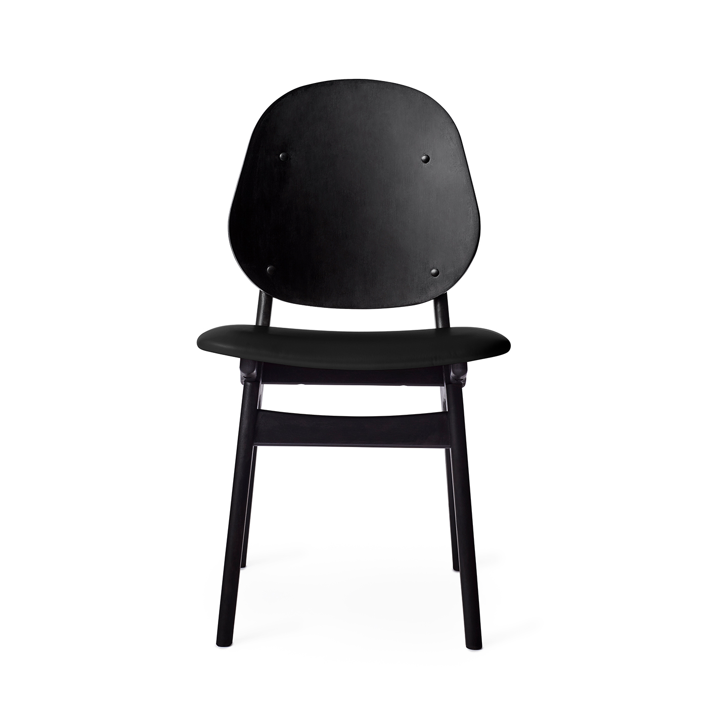 Noble Chair - Black Lacquer/Leather Seat