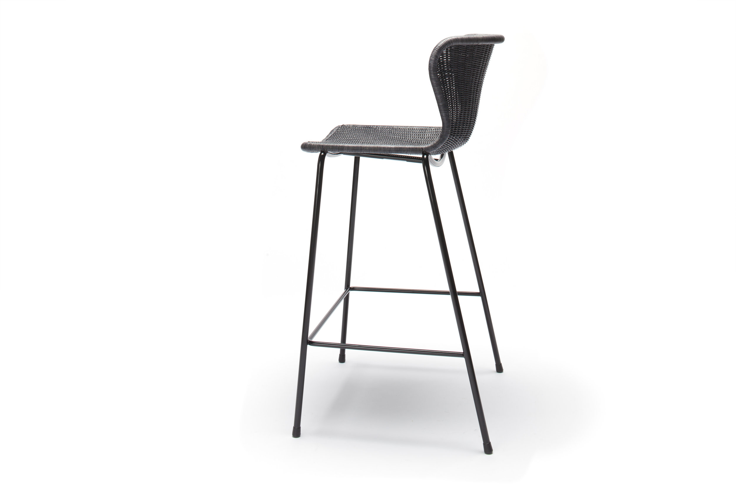 Indoor C603 Stool - Charcoal Rattan
