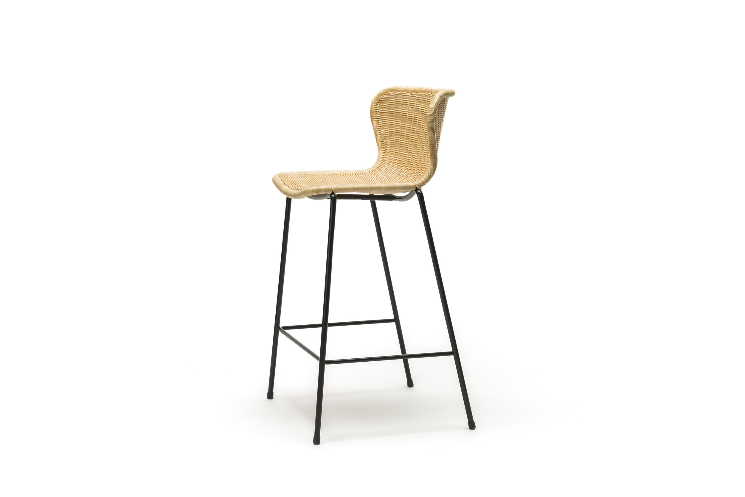 Indoor C603 Stool - Natural Rattan