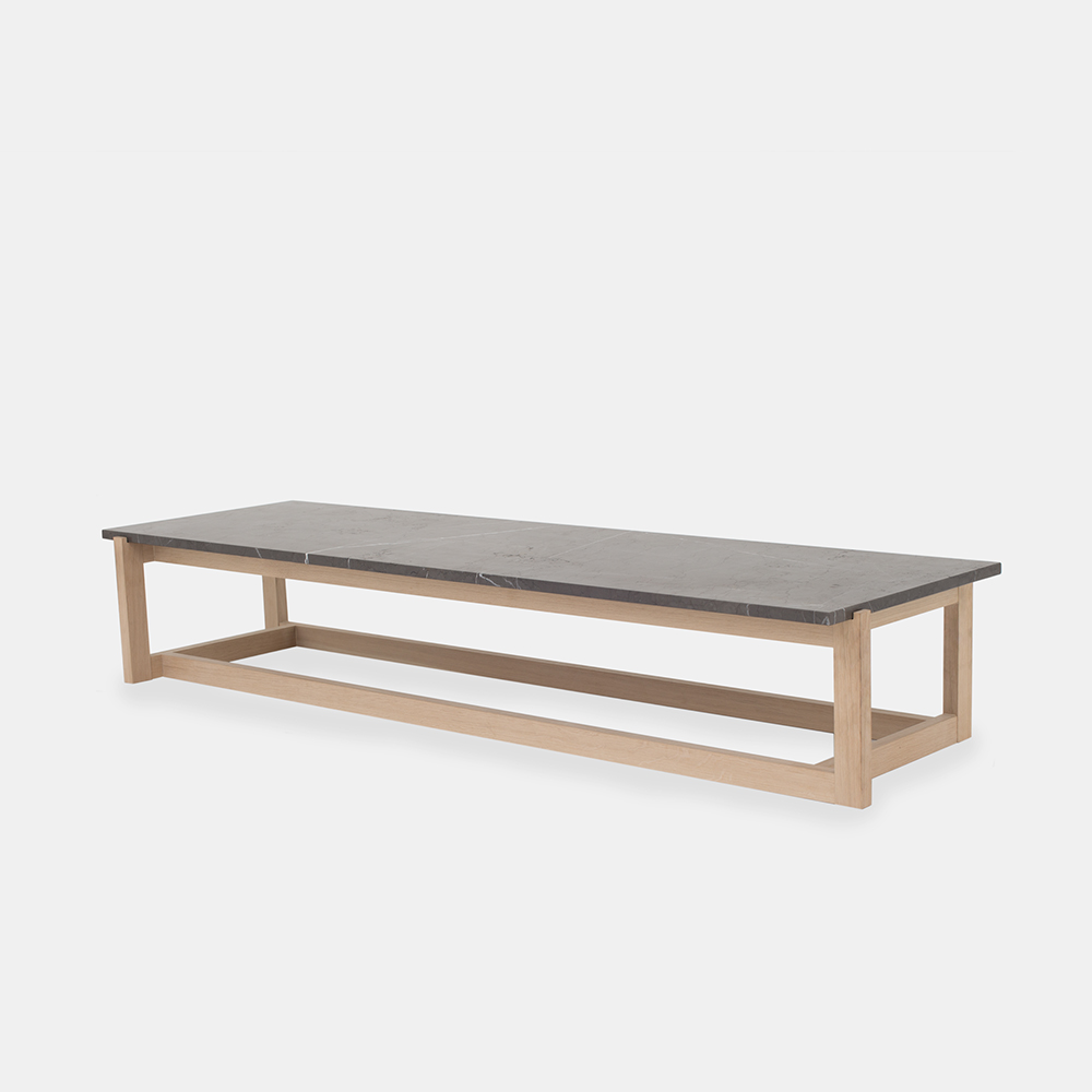 Klassik Studio Coffee Table - Oak/Grey Marble