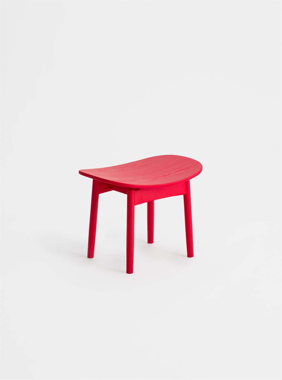 Ariake Saga Lounge Stool - Red Ash