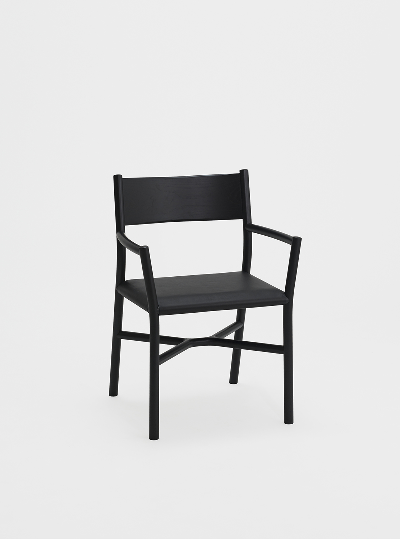 Ariake Armchair - Sumi Ash/Leather Cushion