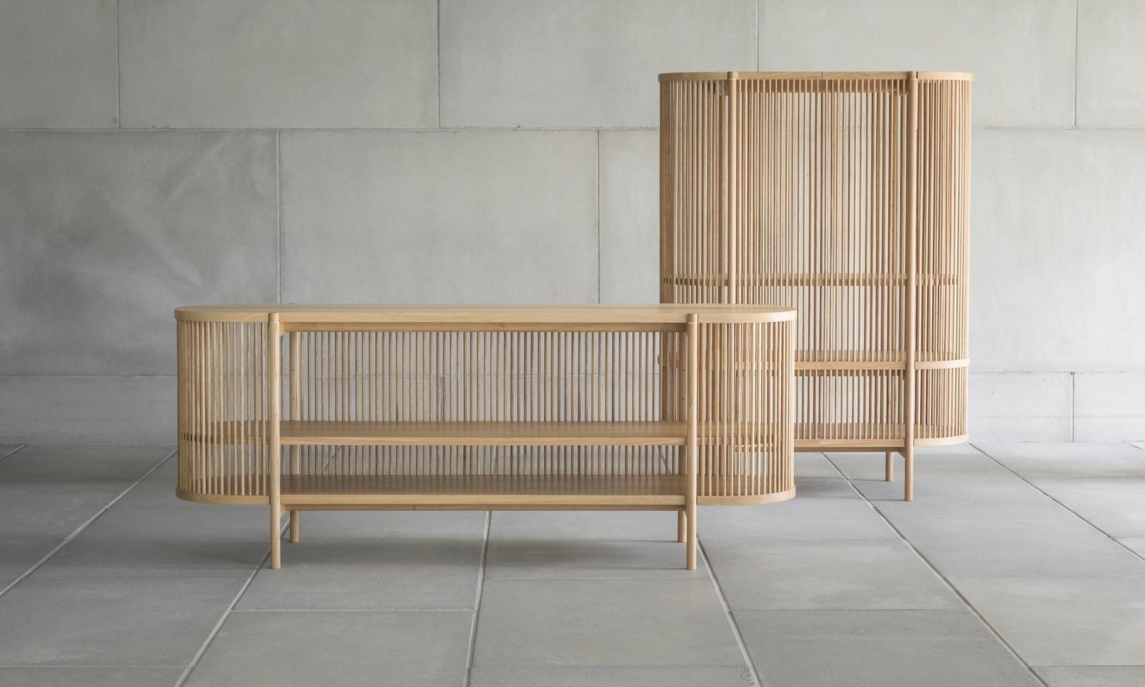 poiat bastone sideboard cabinet oak gestalt new york