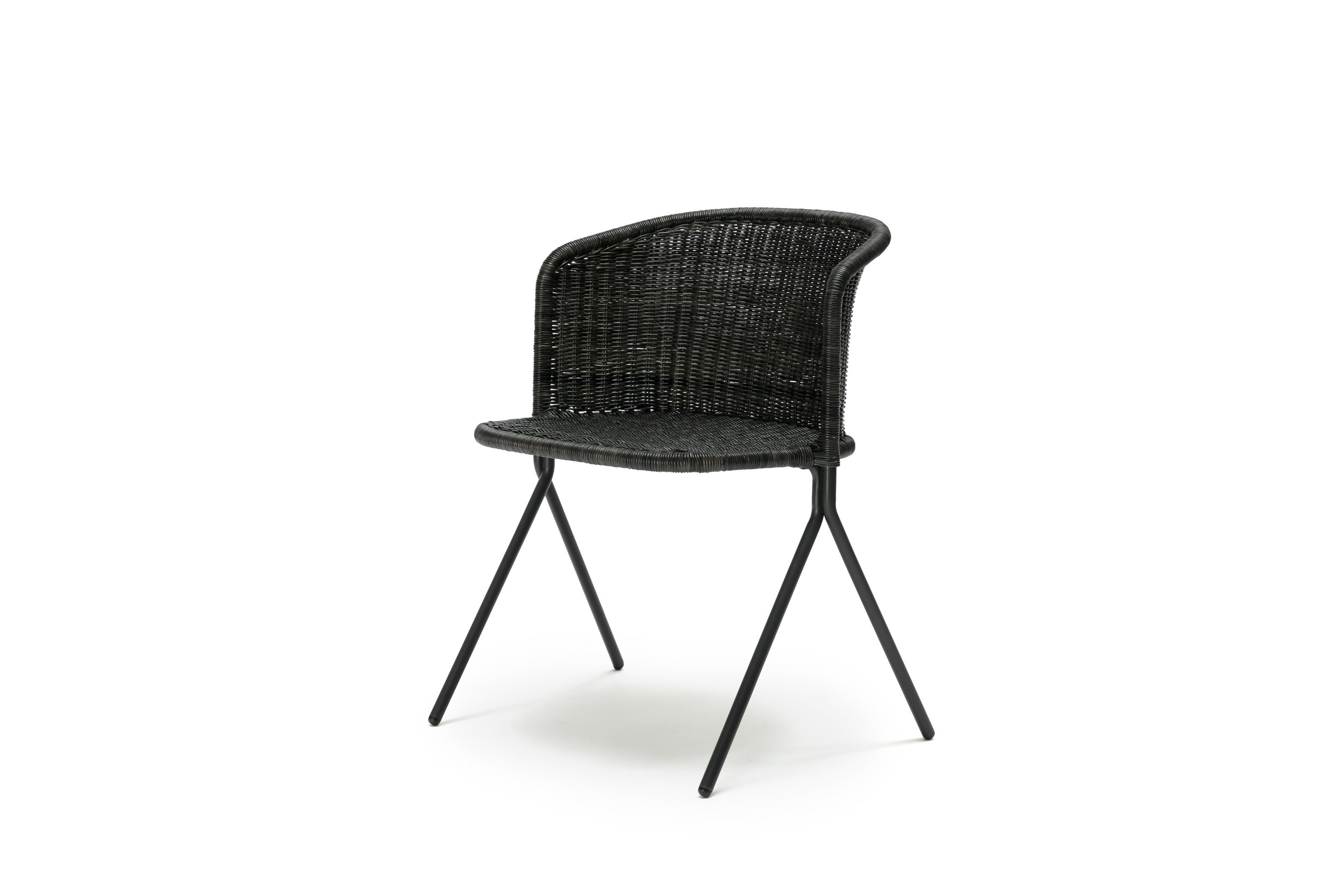 The Kaki Armchair - Graphite Rattan Slimit