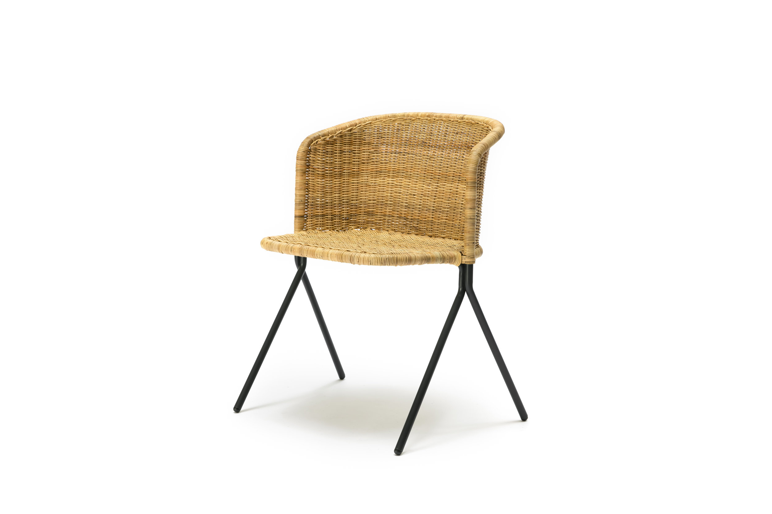 The Kaki Armchair - Natural Rattan Slimit
