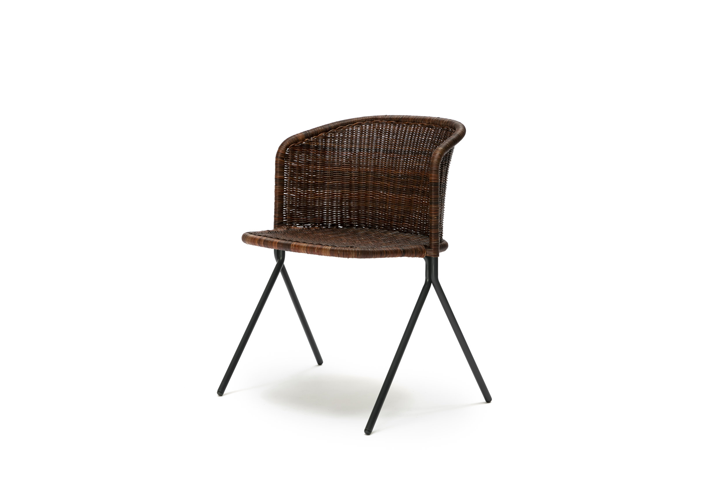 The Kaki Chair - Rust Rattan Slimit