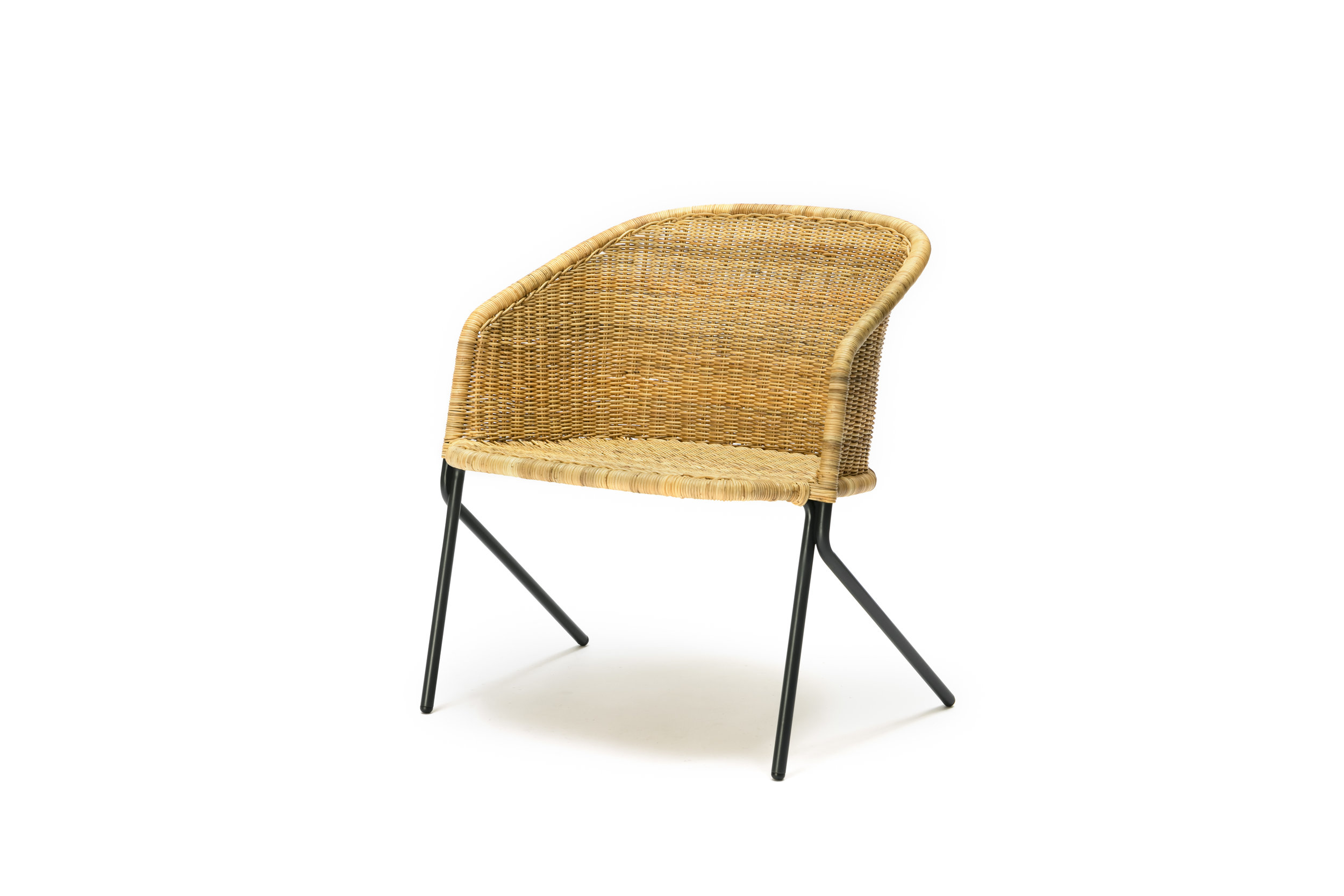 The Kaki Lounge Chair - Natural Rattan Slimit