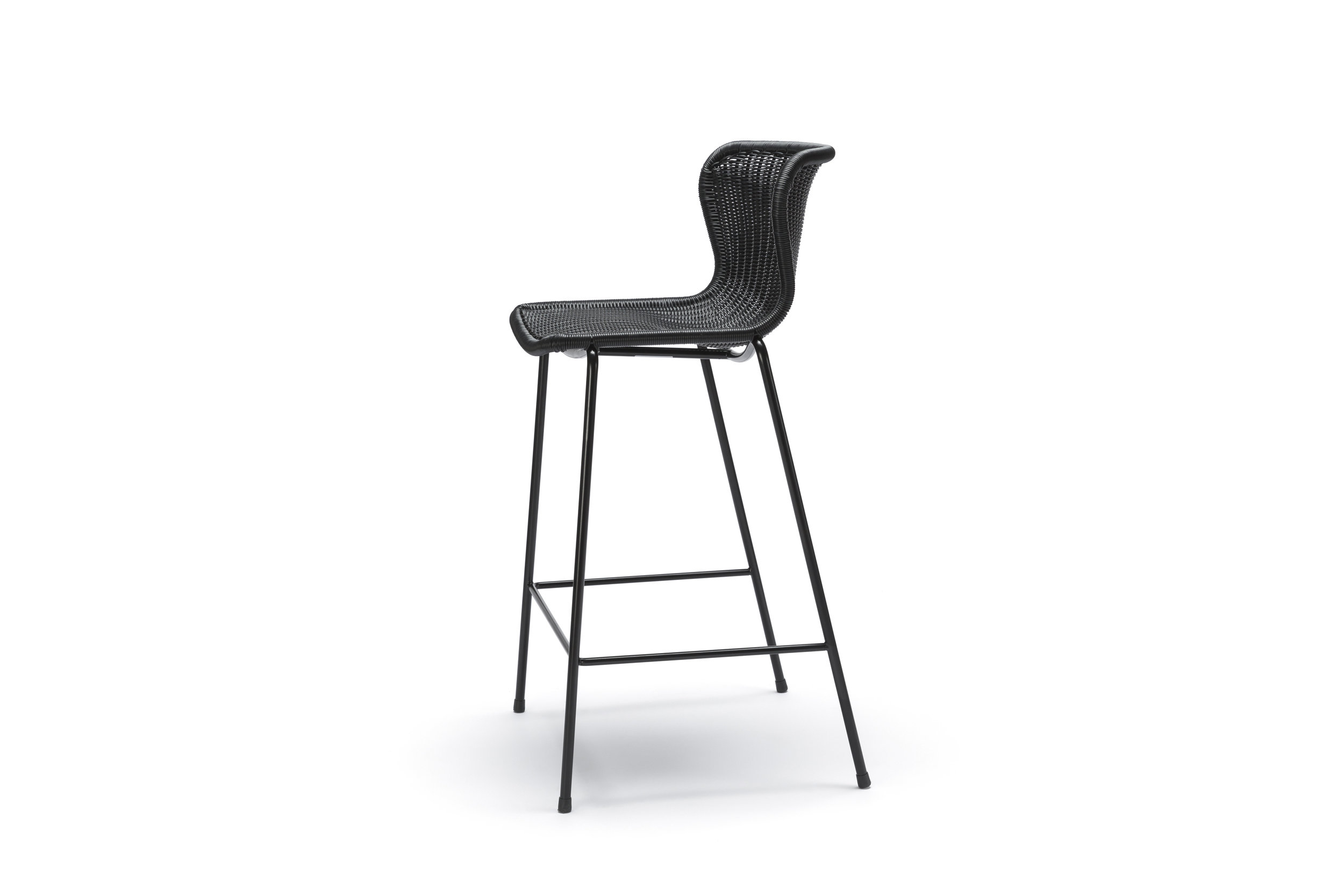 Outdoor C603 Stool - Black Polyethylene