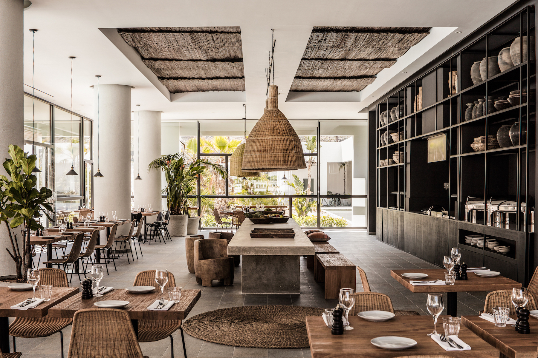 Casa Cook, the boutique hotel on the island of Rhodes, Greece designed by the very talented Annabell Kutuchu and Michael Schickinger. Basket chairs by FeelGood Designs throughout the hotel and restaurant. Photo Georg Roske