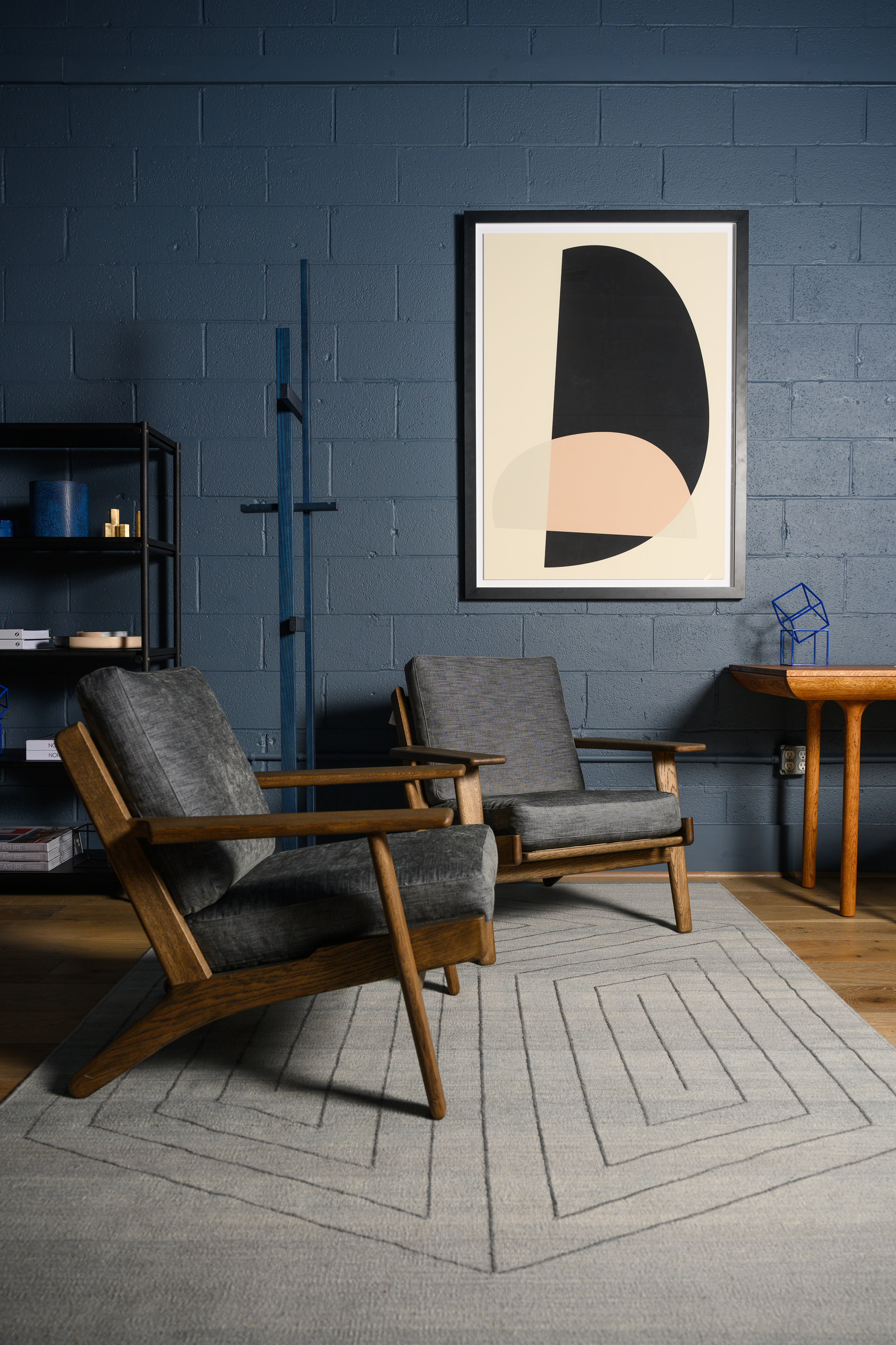 The GE290 Easy Chairs by Hans Wegner