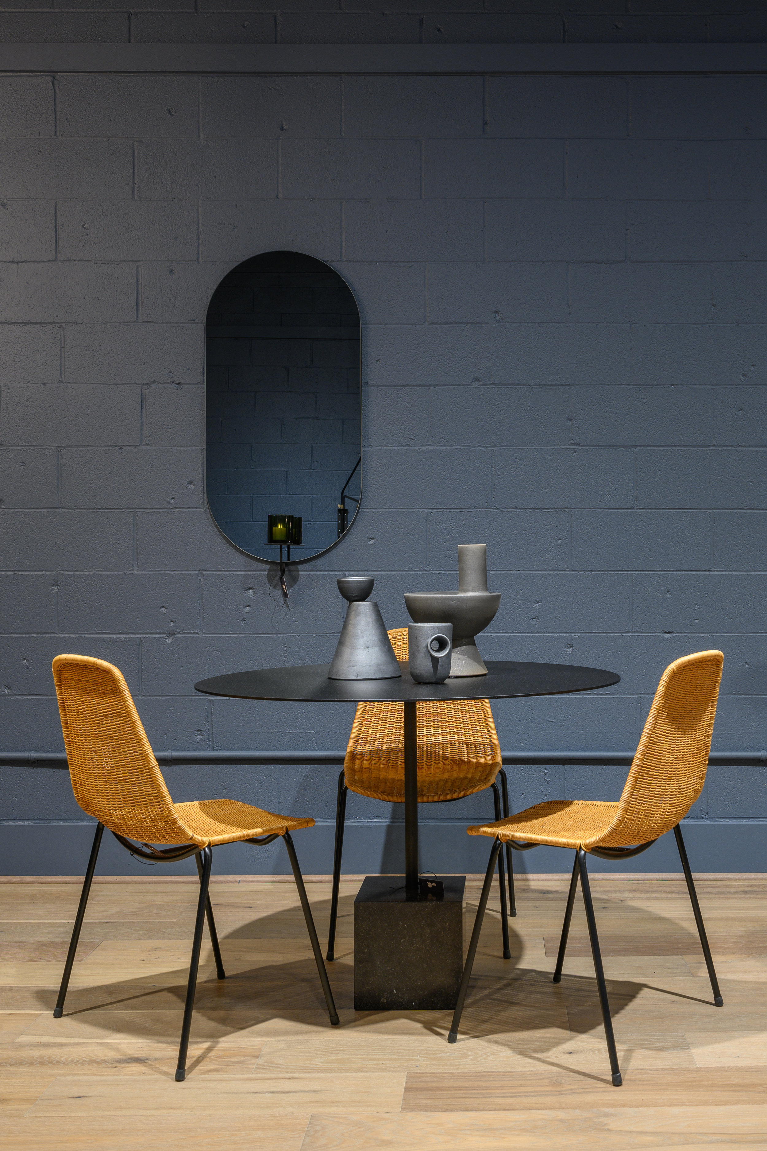 Basket Chairs with Knock Out Dining Table