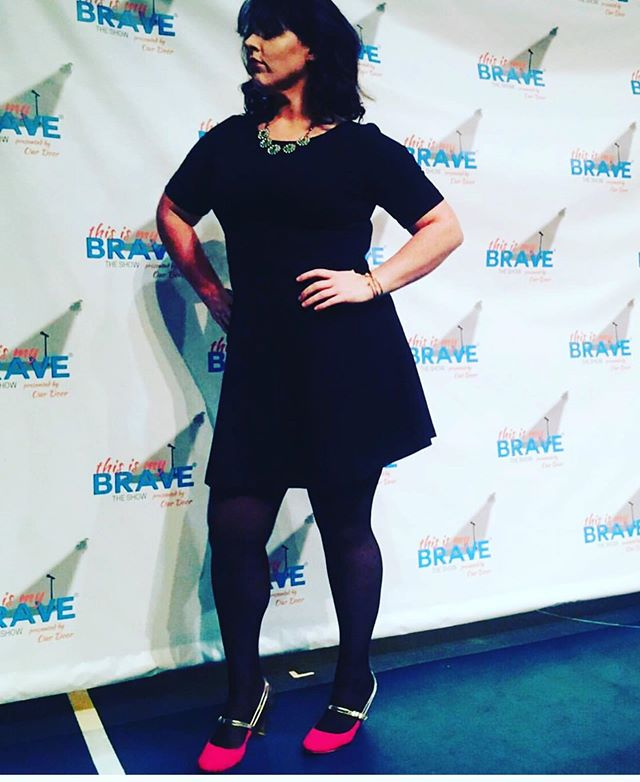 Three years ago today, I stood on a stage with the bravest people I know and told a story about my relationship with Depression.  During the first table read of the @thisismybrave D.C. production, I didn't make it through the first few syllables of my story without sobbing. I was overwhelmed by the reality that I was not alone and I was literally surrounded by the proof—the living, breathing, loving, truth telling proof. The sobbing was part mourning for the woman who suffered in silence, who almost didn't make it, and part unrivaled joy to be seen & heard by people who would help me make sure I would never be alone again. I was in a room full of my heroes.  I cried then out of relief and overwhelm and joy and sadness. I made it through my story once, and I made it through several times after. I told the truth in small rooms to new friends and in a theater filled with people I had never met. I told it to my students in tiny classrooms, to coworkers in their offices, to strangers on social media platforms, and to my family in email attachments and phone calls. Once I started telling it, I couldn't stop. I still haven't. . @jenn.thisismybrave is right: storytelling saves lives. Telling my story saved me and continues to help keep me alive every day. . If and when you begin to believe that your loneliness is the biggest part of you and that your unworthiness is showing, remember this: you are so much more than the feeling of fear and so much bigger than a handful of hurt. Your capacity to feel to the bottom of the greatest depths is rivaled by the way your heart can find its way to its rightful place at the highest of heights. It is in you to push against the boundaries and limits of every feeling, but you are not charged to live inside each of those feelings forever. Your name is not written inside of Fear or Despair; you do not belong to them. Your name is written on stars and filtered through beams of light. You are whole and good and forever loved, forever seen, fo