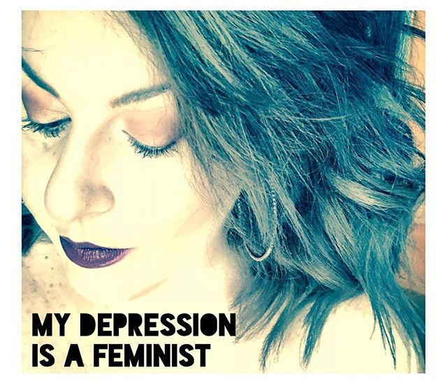To have Depression and claim it as my own feels like a subversive yet overtly powerful feminist act. At least my Depression is my own. - Link in bio to hear me out ♥️ - #mentalhealthawareness #mentalhealth #mentalillness #depression #feminist #feminism #blog #blogger #blogpost