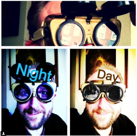 Goggles Tip - Some people use Ski Goggles which have a dark visor. That's not handy at night. These Welding Goggles can be used both Day and Night. Plus they are easy to Customize.