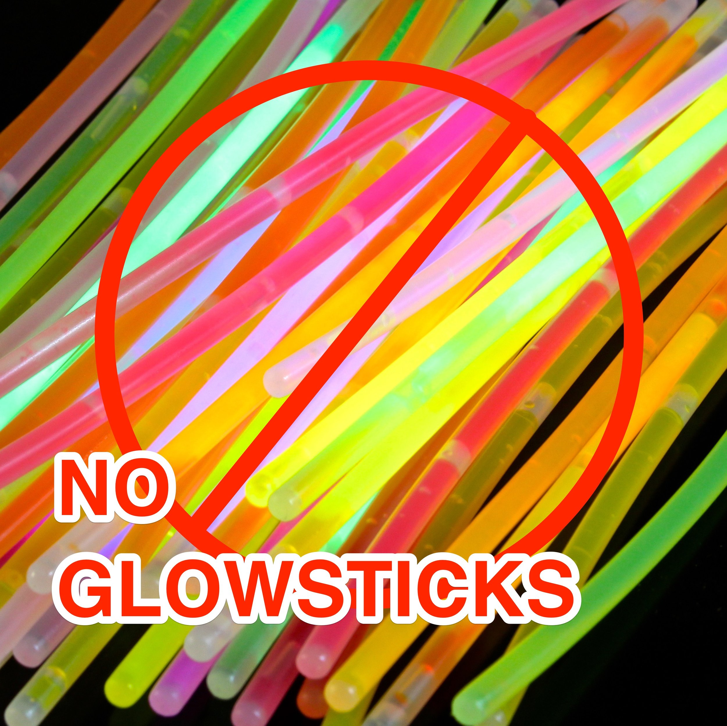 - Please Do Not Use GLOW STICKS. Glow Sticks seem like a good idea, but they often fall off, leaving little bits of plastic and MOOP all over The Playa. Remember to Leave No Trace. There are plenty of other cool alternatives.