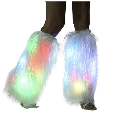 Faux Fur LED Leg Warmers