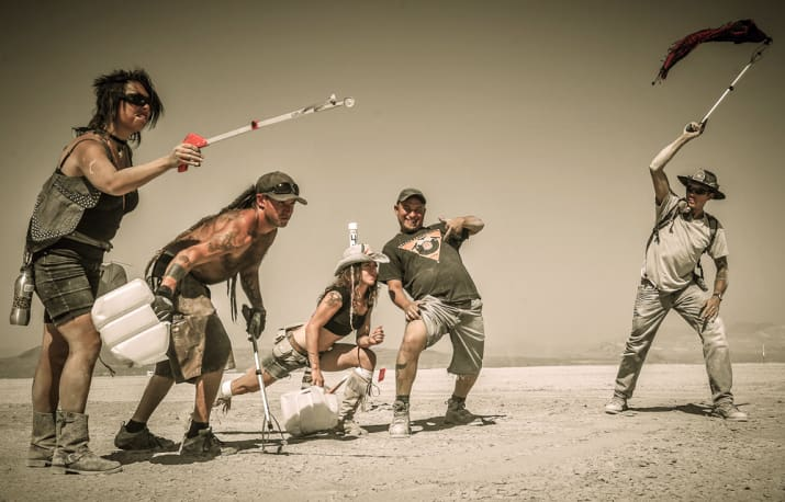 DPW Team Ready To Clean! Photo via  burningman.com