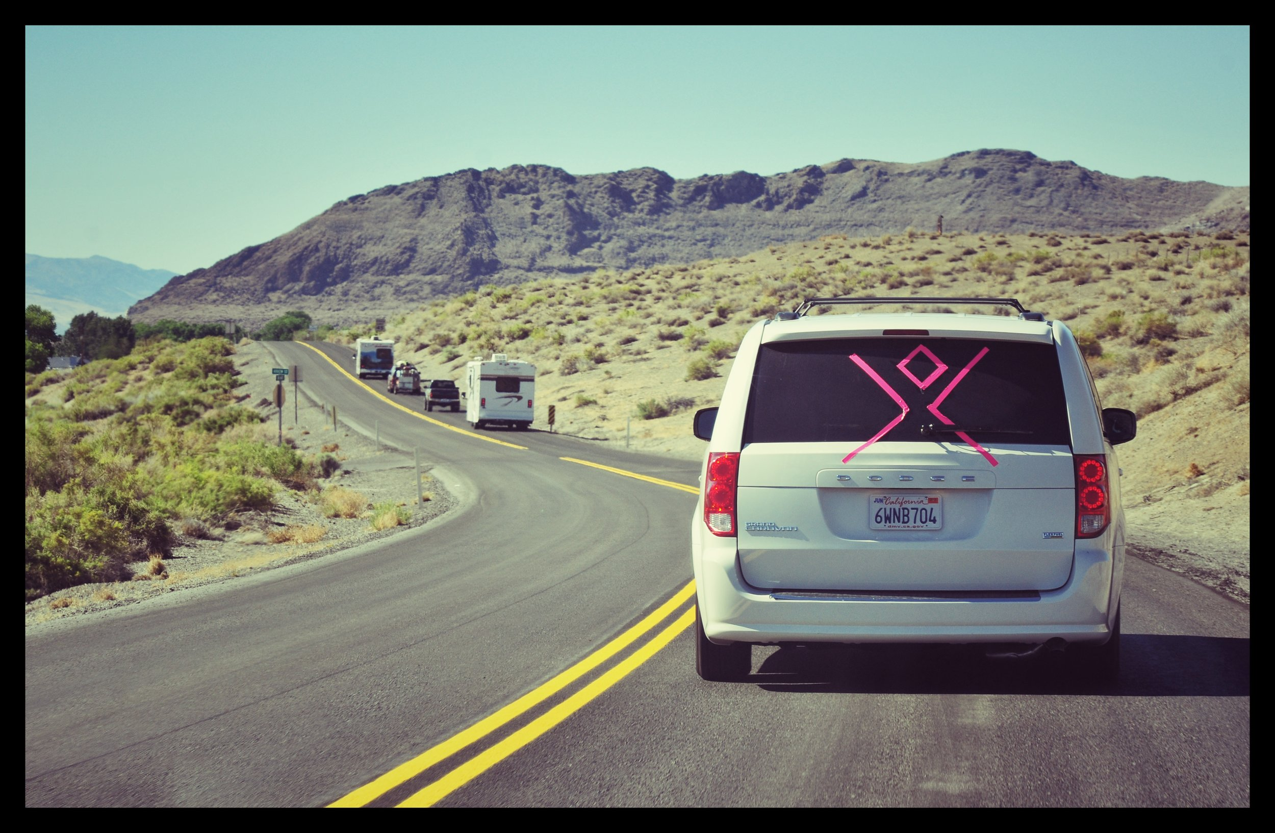Lost on the Road? - As you begin to get closer to the burn, you will notice the man on different vans and caravans. An art car on a trailer is a good giveaway. Usually these folks know where they are going...