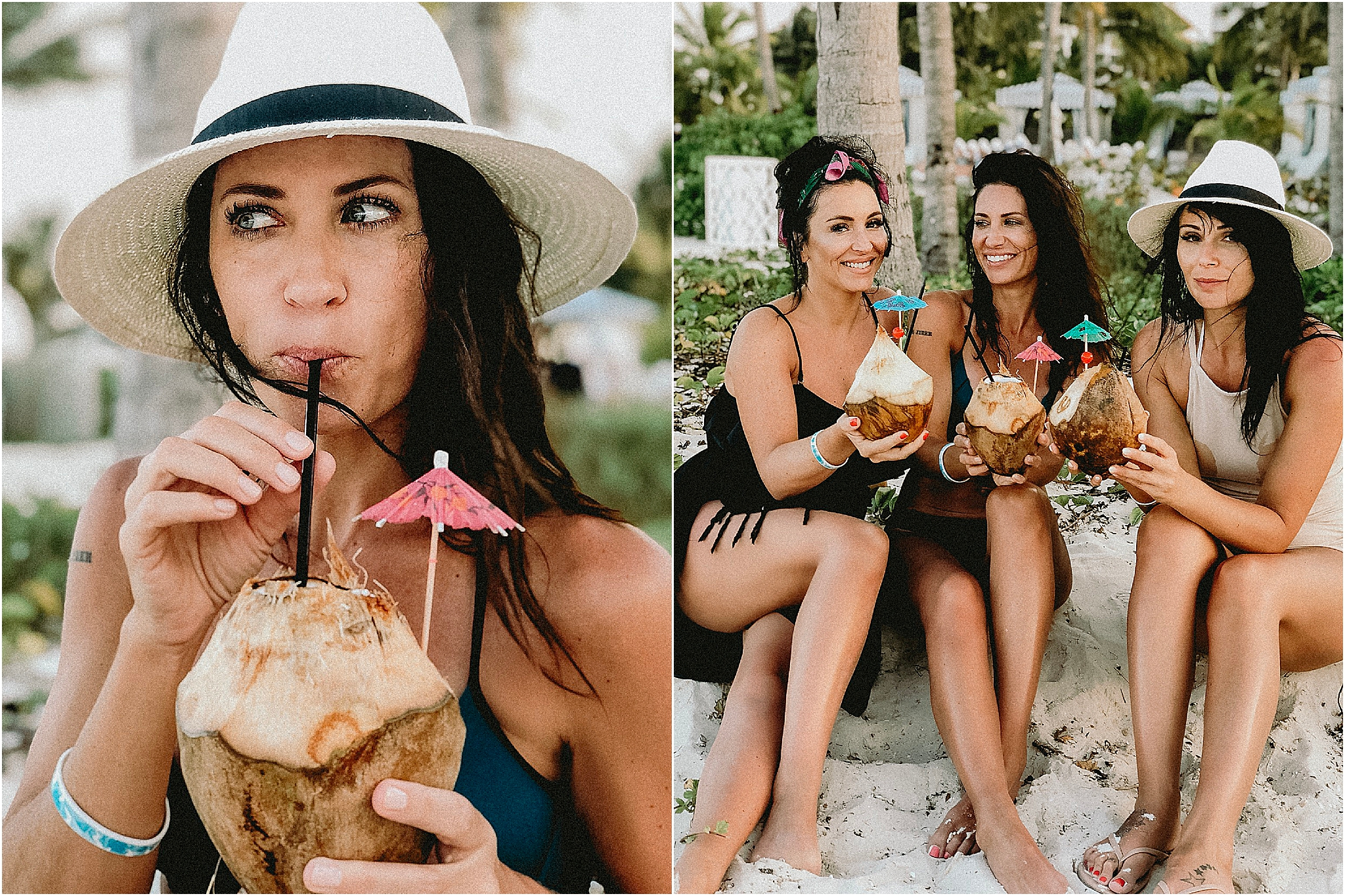 nothing beats a pinA colada in a coconut!