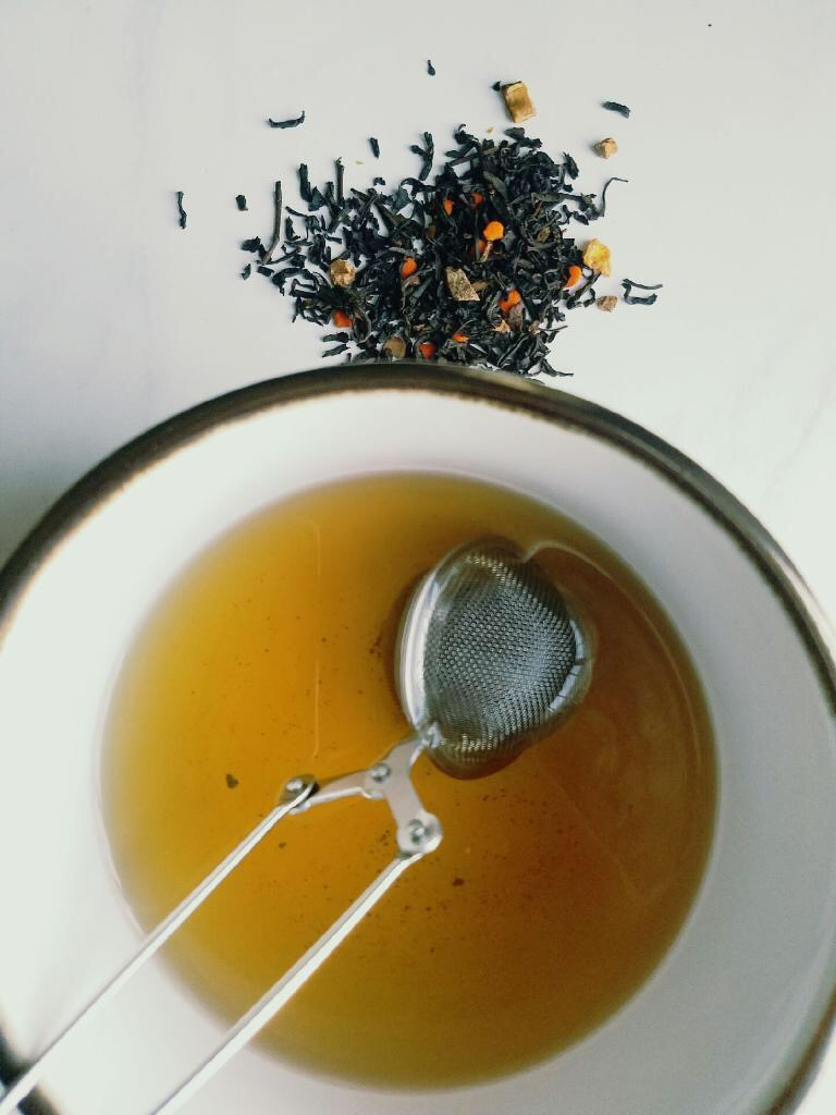 David's Tea Pumpkin Chai Steeped in water