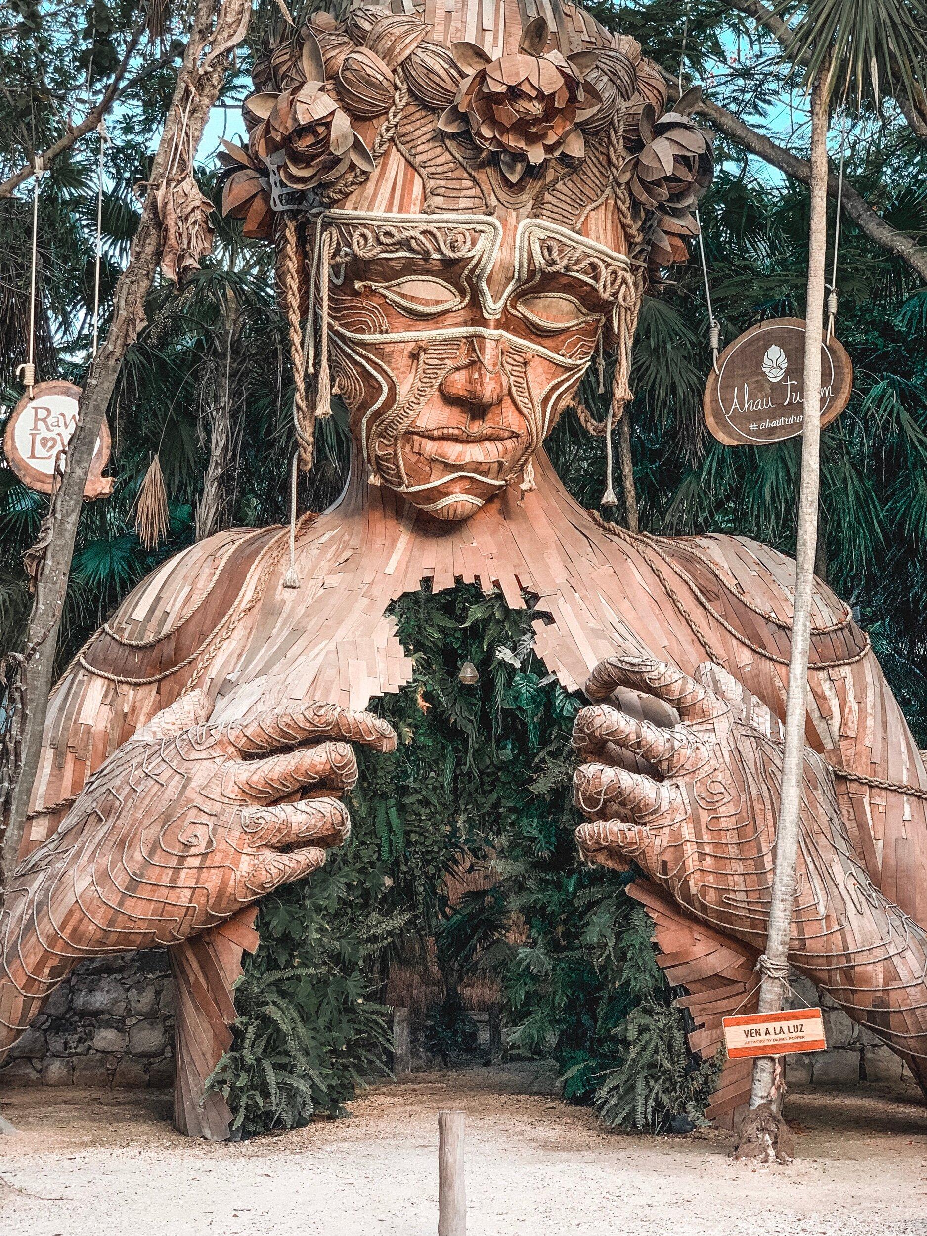 Ven a la Luz (come into the light), at entrance of Ahau Tulum