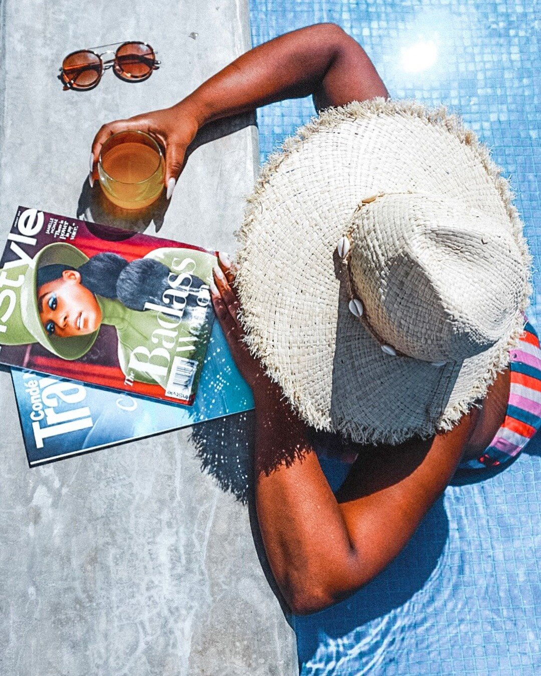 relaxing by the pool at Mun Tulum