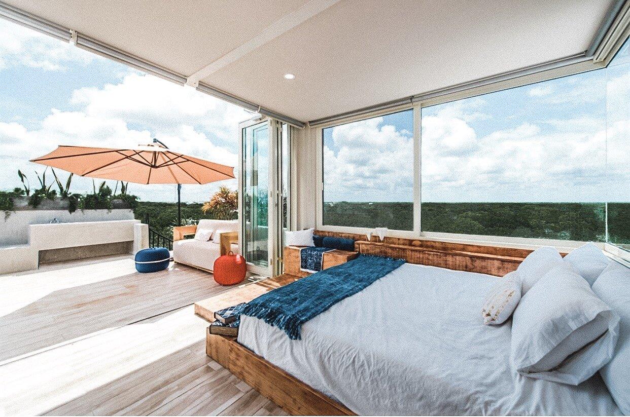 master bedroom at Tulum Airbnb