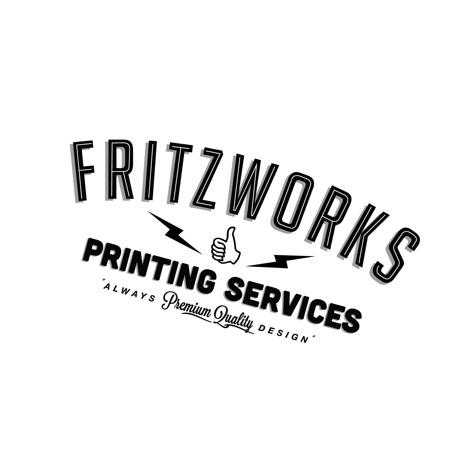 Fritzwork Circle Logo in white