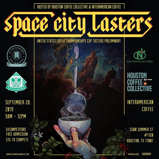 🚀 SPACE CITY TASTERS - the official HOUSTON Cup Tasters Preliminary, will be held at @interamericancoffee on Sept 28th. ⭐️ Jointly presented by @htxcoffeecollective and @interamericancoffee, this is an official regional competition, of which the top 3 competitors will be offered a spot at the National Qualifiers.  RSVP on our Eventbrite page - access link in bio! ‼️A huge thank you to Rainbow Spoon Sponsor @boomtowncoffee - who will be sponsoring a $700 stipend for the champion of this competition to support their traveling and lodging expenses to the qualifying competition. 💰  We will be giving shout out to all our wonderful sponsors in the coming days! Please swipe and check out all our sponsors. Shoutout to Official Equipment Sponsor @geva.coffee Super Spoon Sponsor @luceavehouston Opening Party 🎈 Sponsor @cleoroastingco Closing Party Sponsor 🎈@katzcoffee. Swags and raffles sponsors @baristamagazine @espressoparts @genuineorigin @pitcrewcoffee @slowpoursupply @tinysmilkandcookies @urnexbrands Copy.com, @33booksco @akiva.io American Woman Coffee, and Hospitality Sponsor @bl4cksmith!  #sponsorshoutouts
