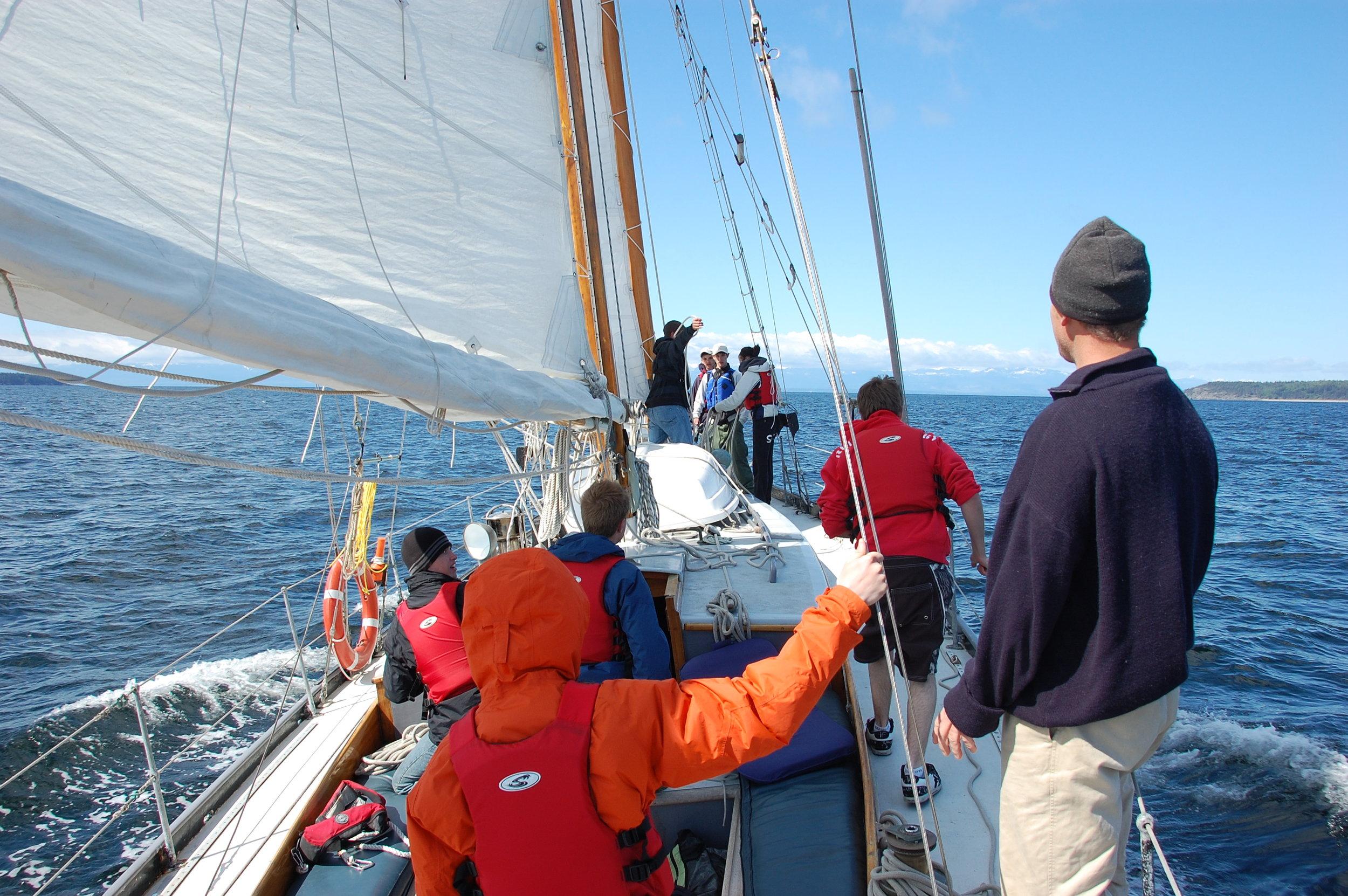 Exploring the Salish Sea aboard a 53' Schooner