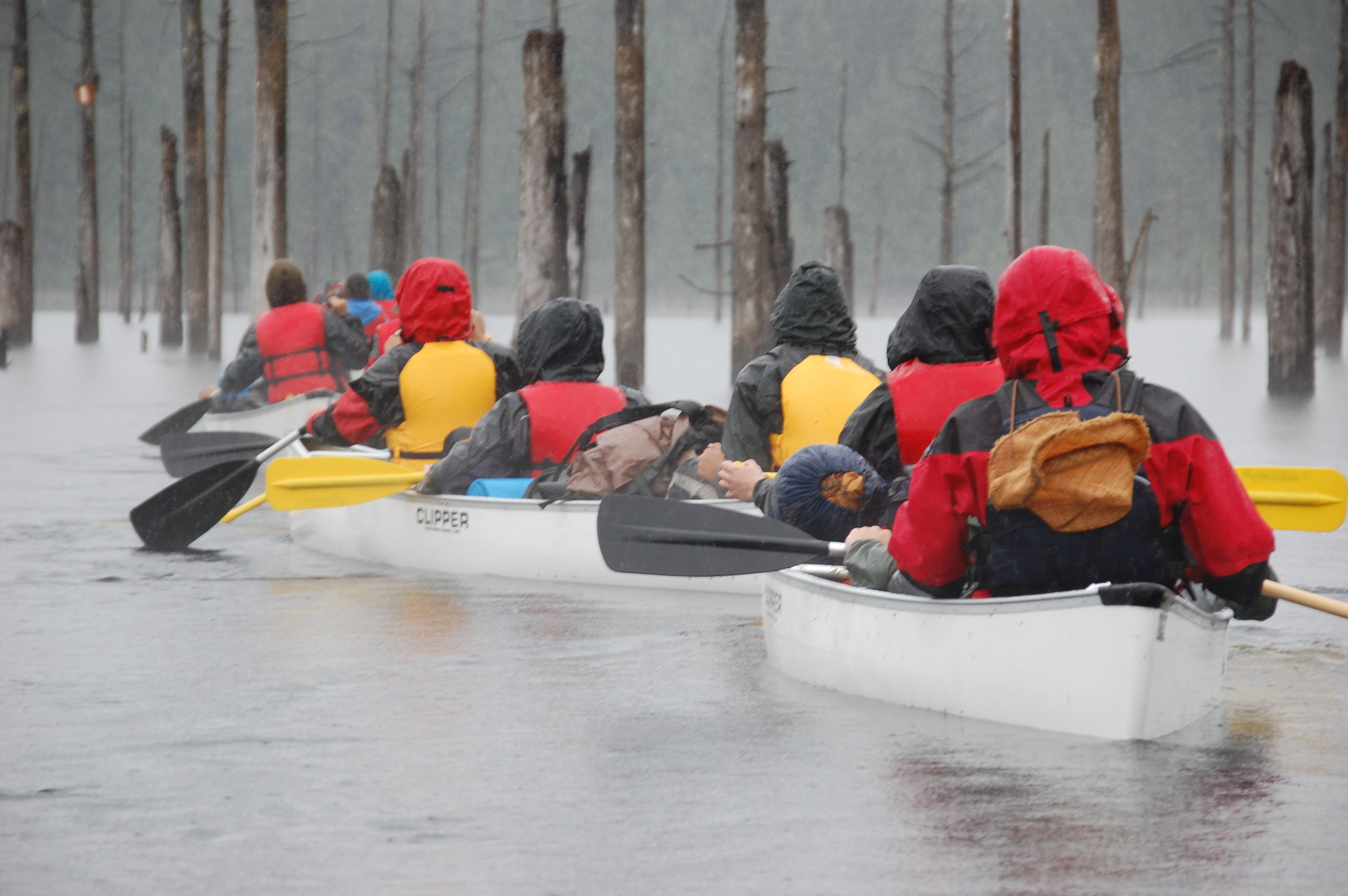 LEAP students paddling the Powell River Canoe Route